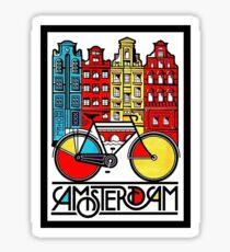 AMSTERDAM : Vintage Bicycle Advertising Print Sticker