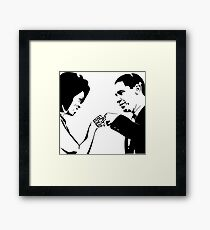 SAY IT LOUD: Obama Fist Bump Framed Print
