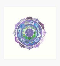 Positive Intentions Lotus Mandala Art Print