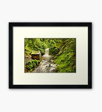 Rydal Hall Waterfall Framed Print