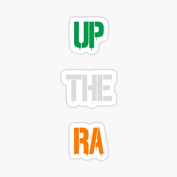 Up the RA! Flag Colours Sticker