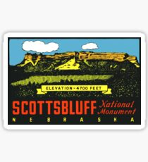 Scottsbluff National Monument Nebraska Vintage Travel Decal Sticker
