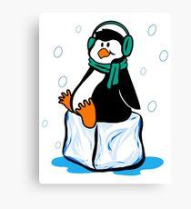 Just Chillin' Penguin Canvas Print