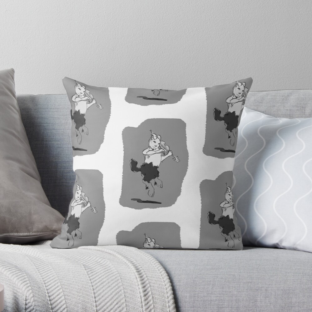 Pan with Fiddle Throw Pillow
