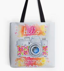 Summer Camera Tote Bag