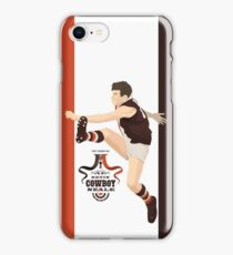 Cowboy Neale - St Kilda  (for red, grey or black shirts) iPhone Case/Skin