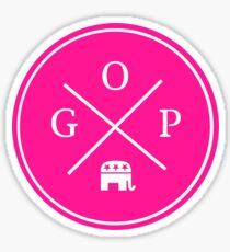 GOP pink Sticker