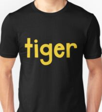 Tiger Schwarz Unisex T-Shirt
