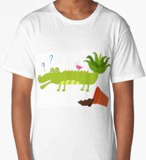 Cute crocodile with aloe vera on its tail Long T-Shirt