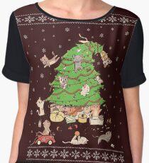 Meowi Christmas Women's Chiffon Top