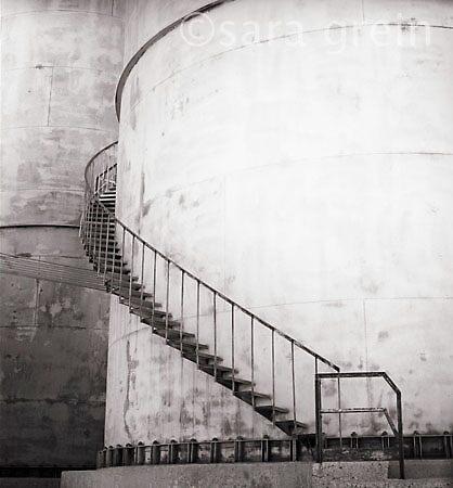Silo Stairs by saragrein