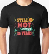 Hottest T-shirt For 36th Wedding Anniversary, Fashion Anniversary Gifts For Couple T-Shirt
