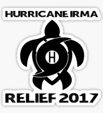 Hurricane Irma Relief Donations Sticker