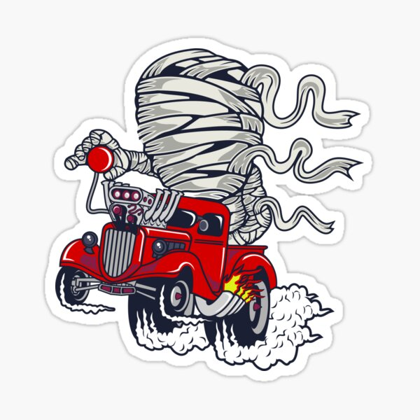 Hot Rod Mummy Sticker
