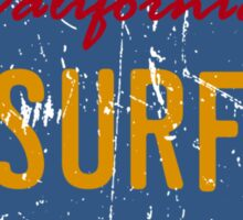 California surf plate - Distressed version Sticker