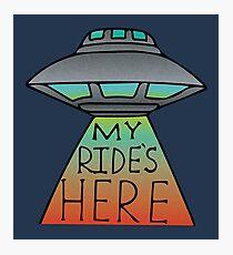 My Ride's Here Photographic Print
