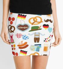 Set of cute Oktoberfest Dirndl Lederhosen dress food beverage Mini Skirt