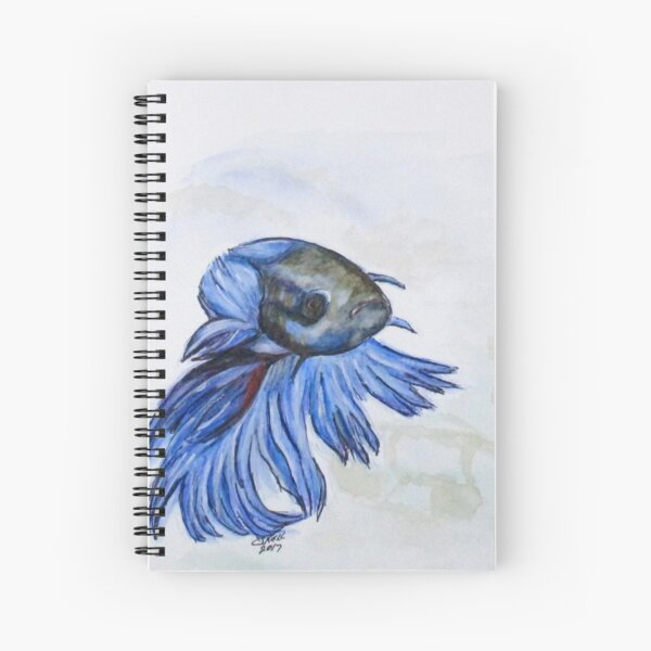 Ben Blue Betta Fish Spiral Notebook