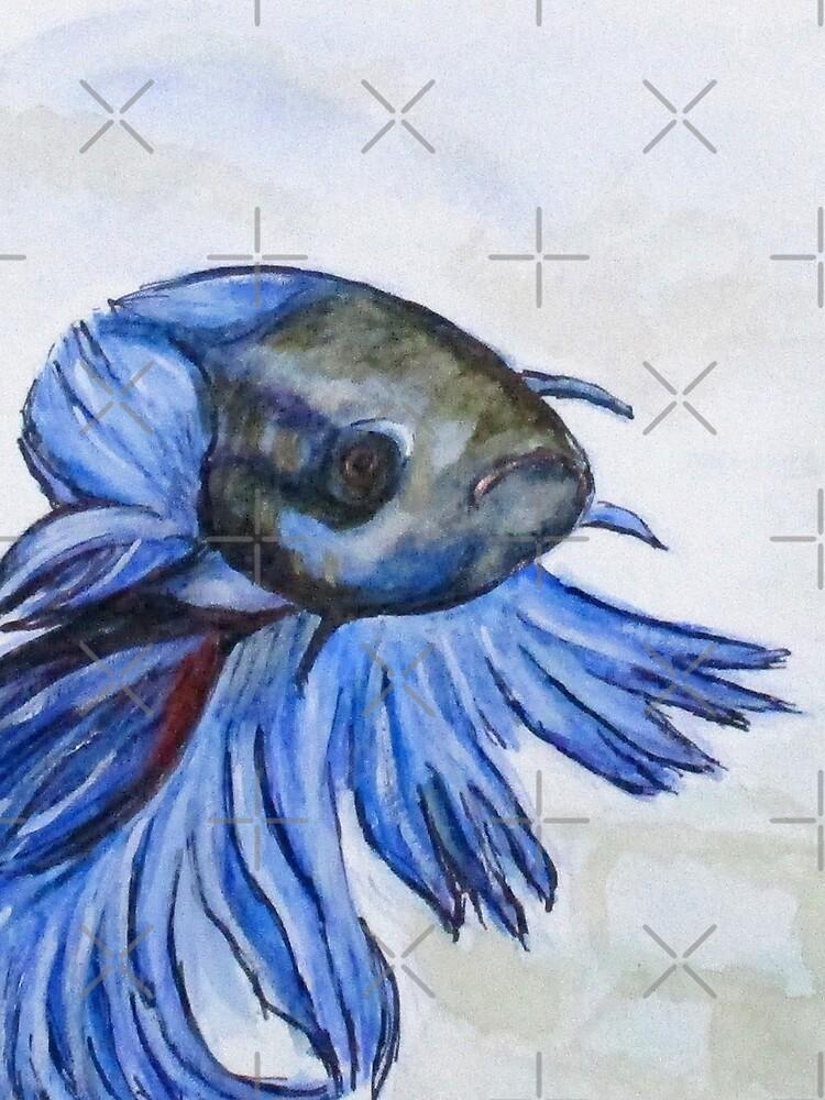 Ben Blue Betta Fish by cjkell