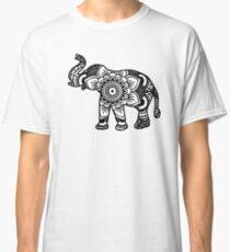 Mandala Elephant Black Classic T-Shirt