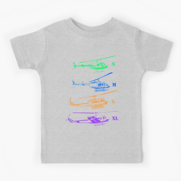 Bell Helicopter - Little to Really Big! Kids T-Shirt