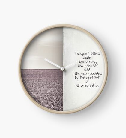 though I stand alone Clock