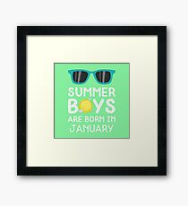 Summer Boys in JANUARY Rzrng Framed Print