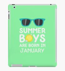 Summer Boys in JANUARY Rzrng iPad Case/Skin