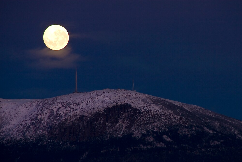 Moon over the Mountain by Ian Robertson