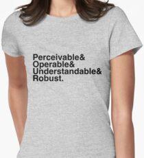 P&O&U&R black Women's Fitted T-Shirt