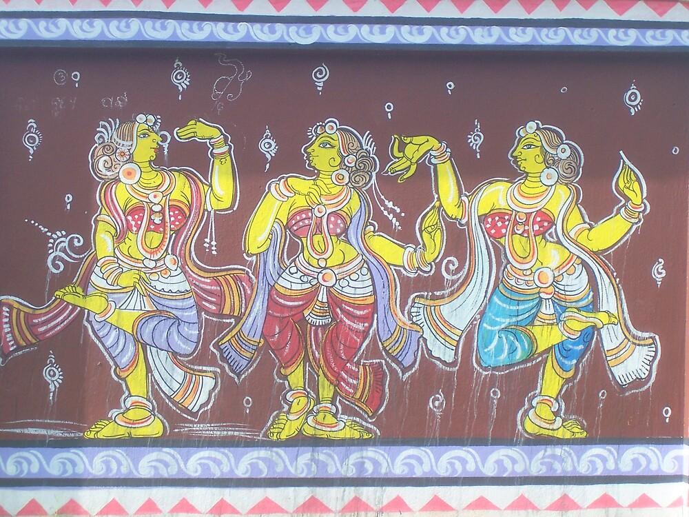 painting on wall by sibananda