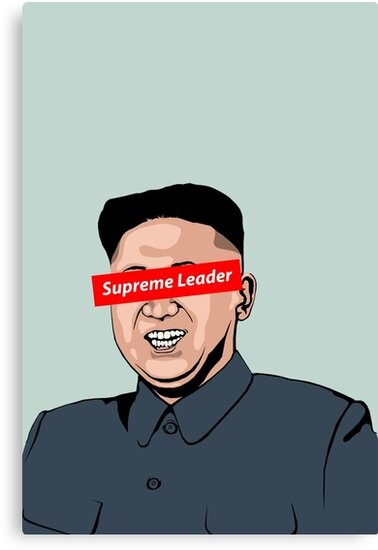 Quot Supreme Leader Kim Jong Un Cartoon Version Quot Canvas