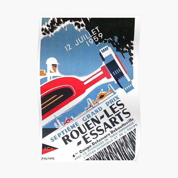 1959 Affiche du Grand Prix Automobile de Rouen Les Essarts Poster