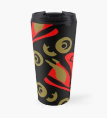Cool golden roller skates Roller Derby Travel Mug