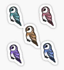 Barn owl sticker pack  Sticker
