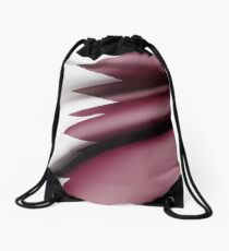 Qatar flag waving Drawstring Bag