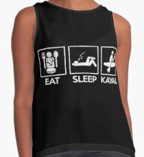 Blusa sin mangas Eat Sleep Kayak Cool Kayaking Gift