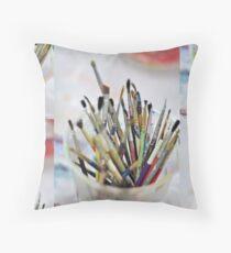 Art Room Brushes Floor Pillow