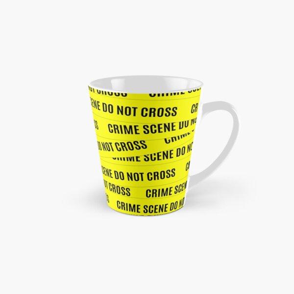 Crime Scene Tape Pattern Tall Mug
