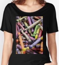 Crayons and Depth of Field Yum Women's Relaxed Fit T-Shirt