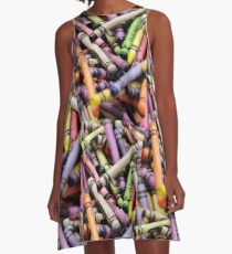 Crayons and Depth of Field Yum A-Line Dress
