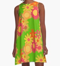 groovy mod floral A-Linien Kleid