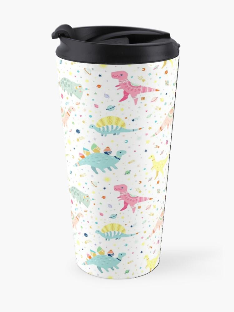 Alternate view of Dinosaur Pattern Travel Mug