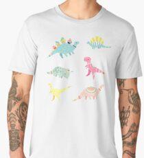 Dinosaur Pattern Men's Premium T-Shirt