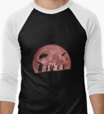 Fellowship of the Berserk (moon version) Men's Baseball ¾ T-Shirt