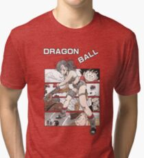 Bulma, Goku and the Red Ribbon Army  - Dragon Ball Tri-blend T-Shirt