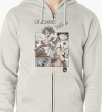 Bulma, Goku and the Red Ribbon Army  - Dragon Ball Zipped Hoodie