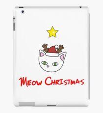 Meow Christmas cute reindeer iPad Case/Skin