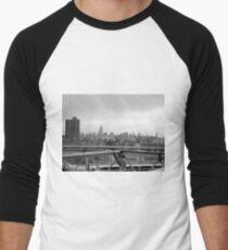 Manhattan skyline from Brooklyn bridge T-Shirt