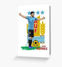 Luis Suarez - Uruguay - World Cup Greeting Card